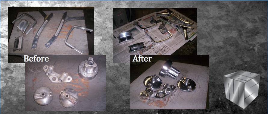 automotive parts polished